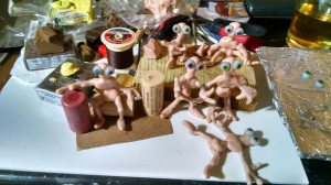 OOAK Table Top Elves ruffed out.