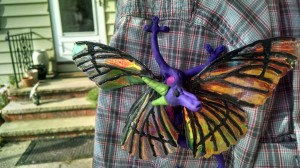 OOAK Fairy Dragon clinging to arm