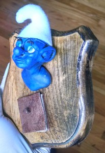 Brainy Smurf Trophy Wall Plaque
